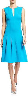 Oscar de la Renta Darted Wool A-Line Dress