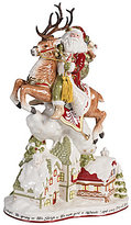 Fitz & Floyd Damask Holiday Up on the Housetop Santa Figurine