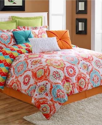 Fiesta Ava 3-Piece Reversible Twin Comforter Set Bedding