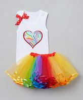 Beary Basics Rainbow Tank & Tutu - Infant Toddler & Girls