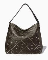 Charming charlie Studded Grommet Shoulder Bag