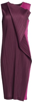 Pleats Please Issey Miyake Hidden Colors Sleeveless Dress