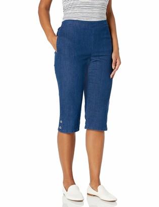 Alfred Dunner Women's Denim Capri Casual Pants 10 Petite