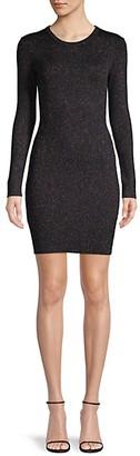 BCBGeneration Rib-Knit Sparkle Sweater Dress
