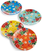 Certified International Frida 4-Pc. Melamine Mixed Canapé Plate Set