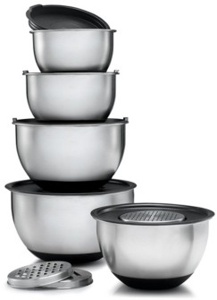 Home-it HomeIT Mixing Bowls with Lids and 3 Kind of Graters, Set of 5