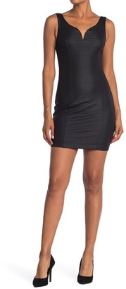 GUESS V-Neck Ottoman Mini Dress