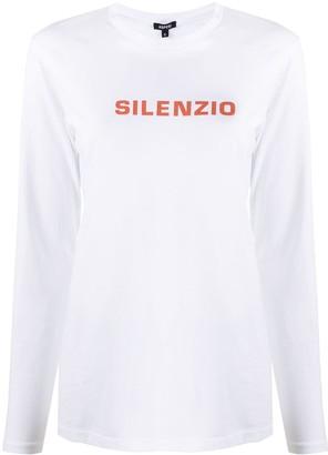 Aspesi Long-Sleeve Logo T-Shirt
