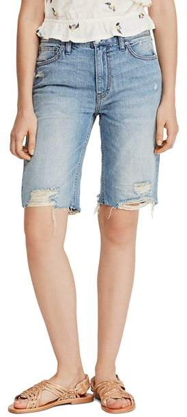 f1d8af0e2b Distressed Denim Bermuda Shorts - ShopStyle