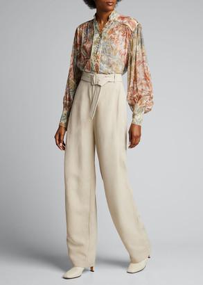 Zimmermann Lucky Printed Bound Blouse in Silk