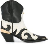 Fausto Puglisi cowboy boots - women - Calf Leather/Leather - 37