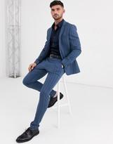 Asos Design ASOS DESIGN super skinny suit jacket in tonal bold stripe in blue