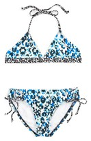 Splendid Girl's Tropic Spots Reversible Two-Piece Swimsuit
