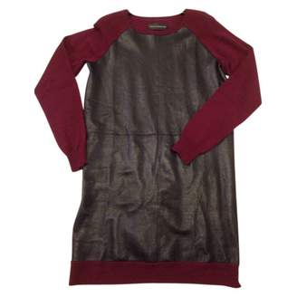 Zadig & Voltaire Burgundy Leather Dresses
