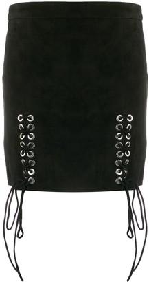 Manokhi Lace-Up Mini Skirt