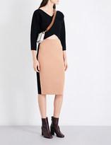 Diane von Furstenberg V-neck cashmere faux-wrap