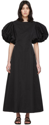 Edit Black Balloon Sleeve Long Dress