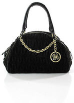 Juicy Couture Brown Suede Gold Tone Unstructured Medium Hobo Bag