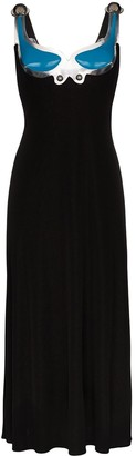 Christopher Kane Gel-Insert Maxi Dress