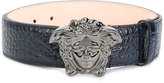 Versace crocodile-embossed Medusa belt