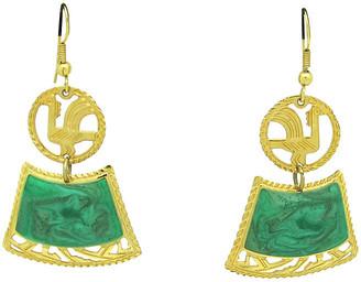 One Kings Lane Vintage Edgar Berebi Aztec-Style Earrings - Thanks for the Memories