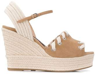 Sergio Rossi two-tone wedge sandals