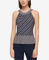Tommy Hilfiger Mixed-Print Top