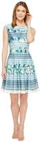 Christin Michaels Frances Cap Sleeve Fit and Flare Dress Women's Dress
