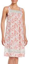 Carole Hochman Floral Cotton Chemise