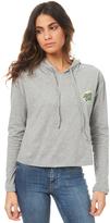 Santa Cruz Womens Marble Hand Crop Long Sleeve Hood Tee Grey