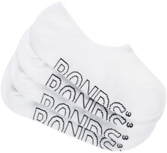 Bonds Womens Logo Light Sneaker Socks 4 Pack