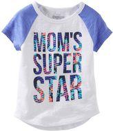 "Osh Kosh Girls 4-8 Mom's Super Star"" Raglan Short Sleeve Active Tee"