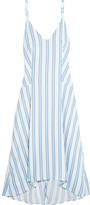 Balenciaga Striped Crepe Dress - Blue