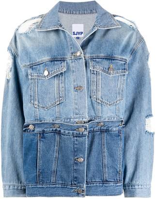 Sjyp Destroyed Detachable Panel Denim Jacket