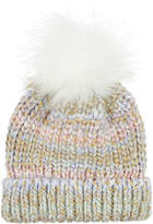 Monsoon Pretty Pastel Rainbow Beanie Hat