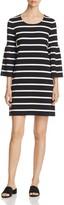 Calvin Klein Stripe Bell Sleeve Dress