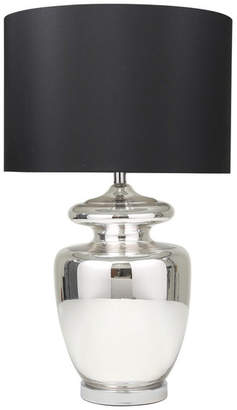 "Sagebrook Home Glass 31"" Urn Table Lamp, Silver"