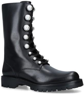 Rene Caovilla Perlarita Leather Boots