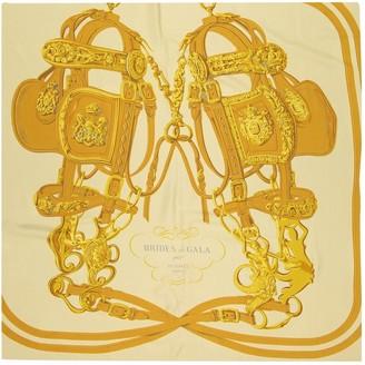 Hermes Gold Silk Scarves