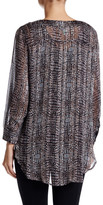 Susina Shadow Stripe Tunic Blouse (Petite)