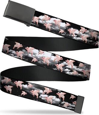 """Buckle Down Buckle-Down Buckle-Down Web Belt Pigs 1.5"""" Accessory"""