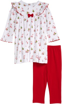 Kissy Kissy Santa Print Dress & Leggings Set