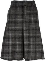 Thom Browne plaid wide cropped trousers