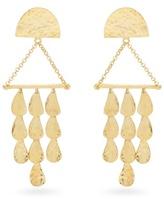 Sophia Kokosalaki Triangle Perseids gold-plated earrings