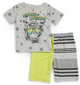 Amy Coe Baby Boys Uproar Tee and Shorts Set