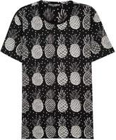 Dolce & Gabbana Black Pineapple-print Cotton T-shirt