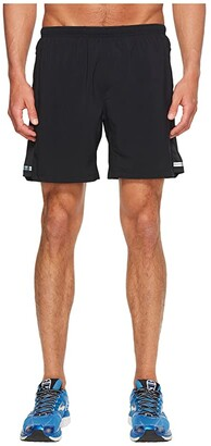 Brooks Sherpa 7 2-in-1 Shorts (Black) Men's Shorts