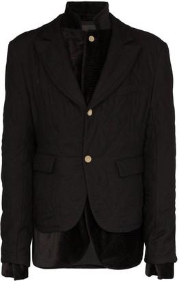 Haider Ackermann double-layer quilted blazer