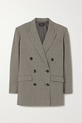 Isabel Marant Oladim Double-breasted Woven Blazer - Gray