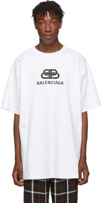 Balenciaga White Oversized BB T-Shirt
